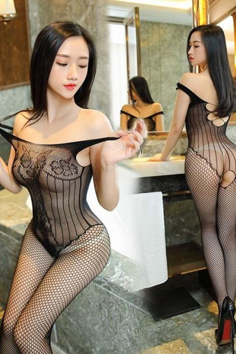 Hot Women Hollow Teddies Sex Body Stocking Novelty & Special Use Exotic Apparel Vest Lady Sexy Lingeries Black Fishnet Stockings