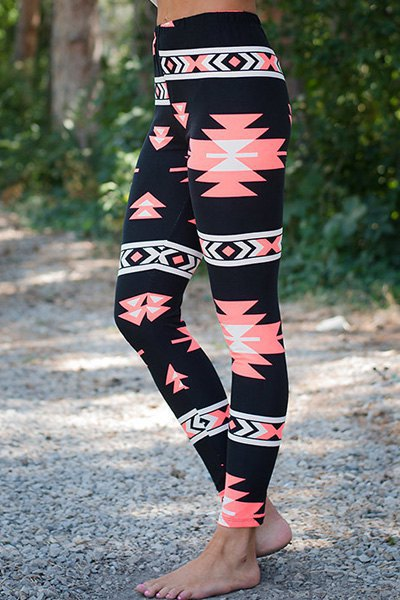 High Waist Flower Print Elastic Yoga Sport Slim Leggings