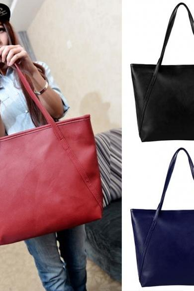 New Fashion Women Synthetic Leather Vintage Style Shoulder Bag Casual Handbag