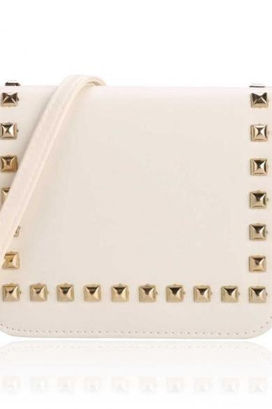 Petite Crossbody Bag Adorned with Rectangular Rivets