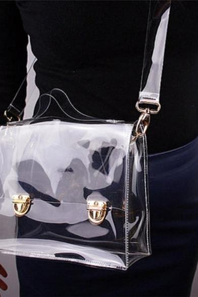 Transparent Clear Messenger Shoulder Bag