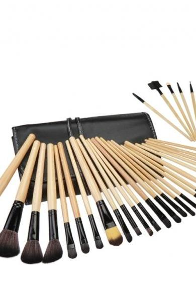 32 PCS Makeup Brush Set Cosmetic Pencil Lip Liner Make Up Kit Holder Bag