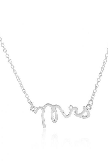 Europe Burst Letter MRS Necklace