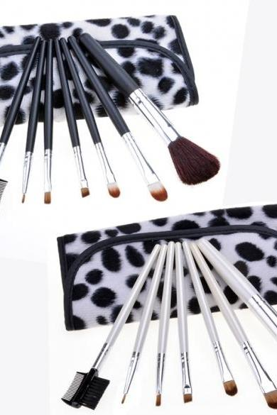 New Professional Makeup Cosmetic Brush Tool Set Eyebrow Brush Eye Shadow Brush + Portable Kit Pouch