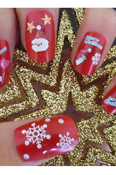 Christmas Snowflakes Design 3D Nail Art Stickers Decals 12 Sheet
