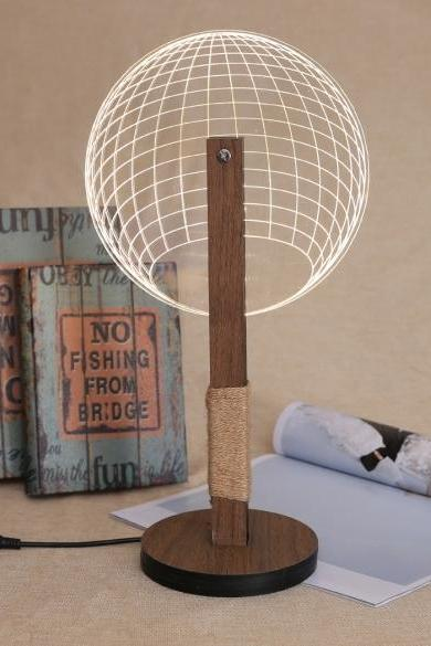 Abstract 3D LED Ball Light Desk Table Lamp Room Decoration USB Night Lights