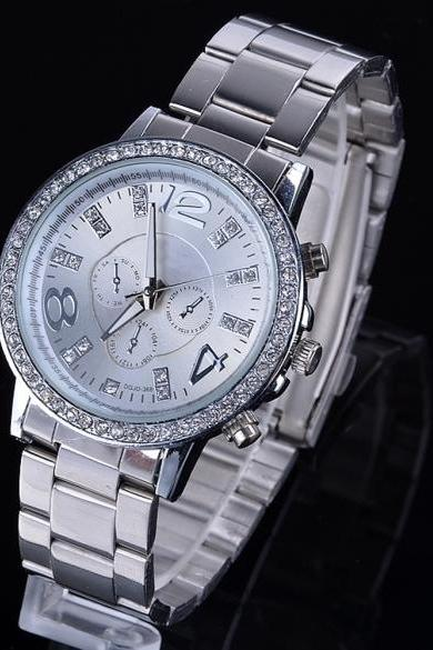 New Fashion Casual Watch For Women's Wristwatch Crystal Hours Steel Case Ladies Quartz
