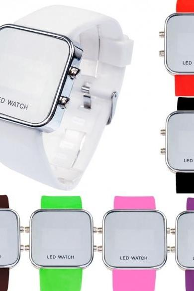 New Fashion Unisex LED Display Quartz Waterproof Analog Wristwatch