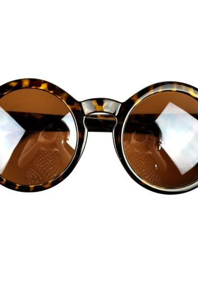Fashion Unisex Retro Round Plastic Frame Sunglasses Eyewear Sun Glasses