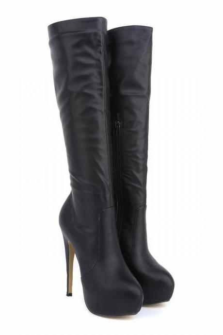Fashion High Platform Round Head Knee-High Boots