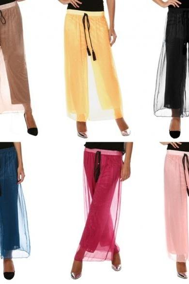 New Fashion Women's Sexy Casual Loose High Waist Solid Wide Leg Pants