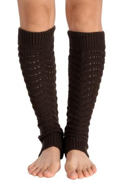 Avidlove Fashion Women Lady Girl Leg Warmer Wavy Stripe Knit Boots Cuffs Soft Socks