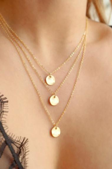 Multilayer Sequins Contracted Clavicle Necklace