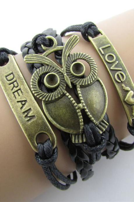Dream Love Owl Multielement Colored Bracelets