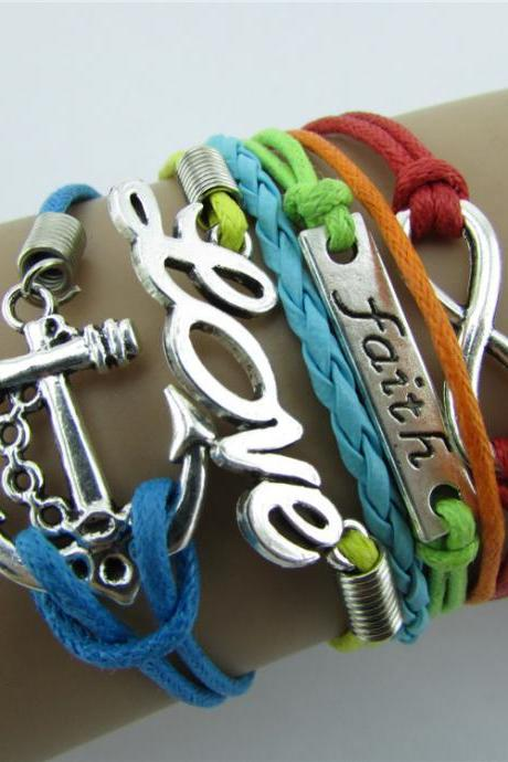 Romantic Infinite Love Colorful Woven Bracelet