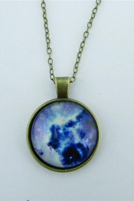 Unique Retro Starry Sky Diamond Necklace