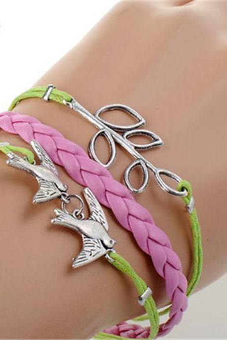 Bright Birds Branches Fashion Bracelet