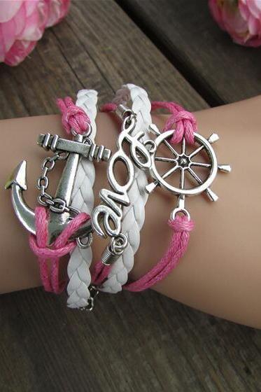 Anchor LOVE Romantic Bright Bracelet