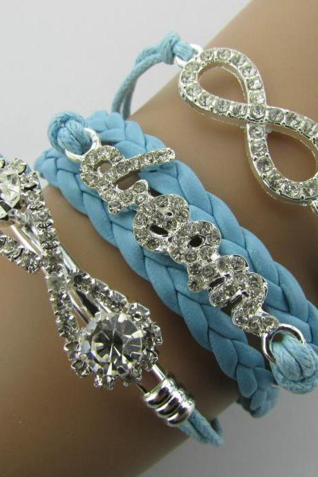 Crystal Dream Diamond Multilayer Woven Bracelet