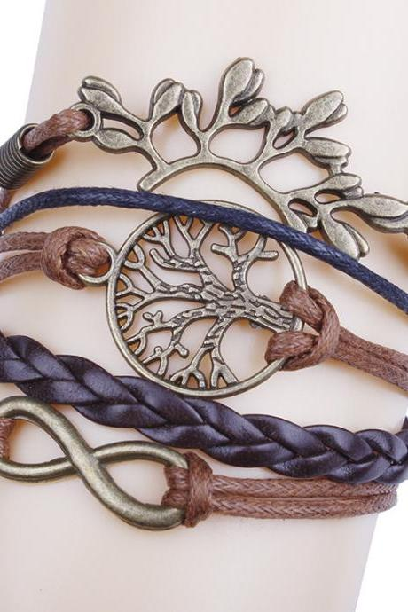 Life Tree Leaves Handmade DIY Bracelet