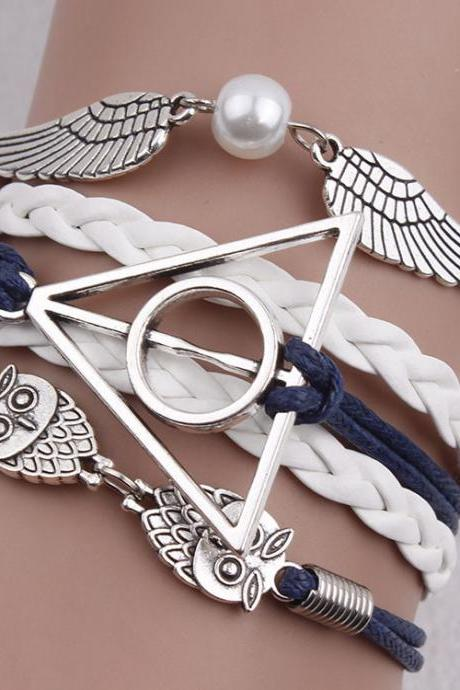 Harry Potter Deathly Hallows Wings Fashion Bracelet