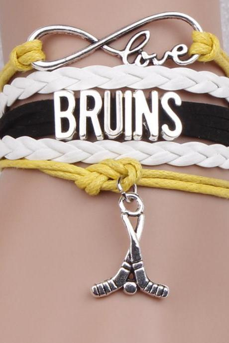 Hockey Ball Bright Color Fashion Woven Bracelet
