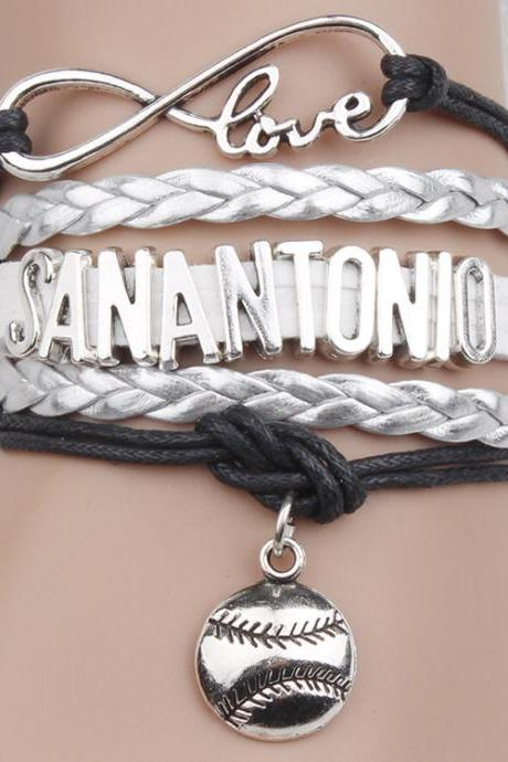 Retro Letters Basketball Woven Multilayer Bracelet