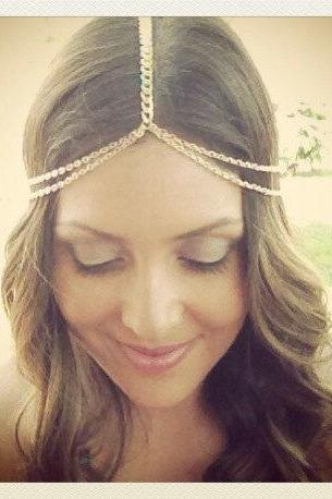 Metal Chain Tassel Hair Accessories