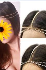 Manual Contracted Crystal Double Layers Hair Accessories