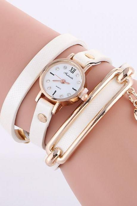 Classic Small Dial Circle Quartz Watch