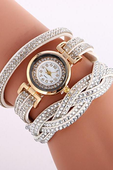 Beautiful Crystal Strap Wrist Watch