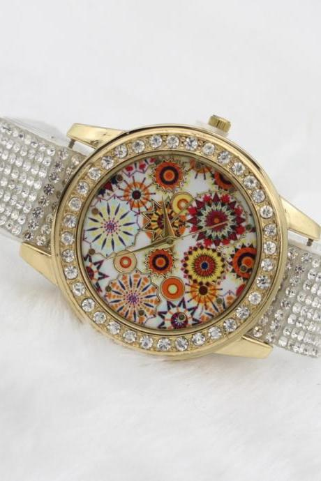 Beautiful Crystal Braid Fireworks Watch