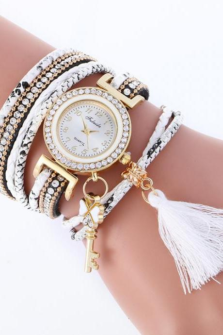 Key Tassel Multilayer Woven Watch