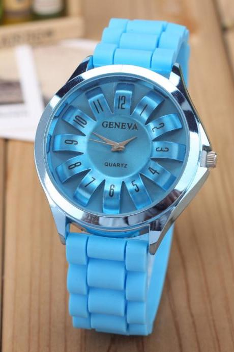 Beautiful Chrysanthemum Silicone Watch