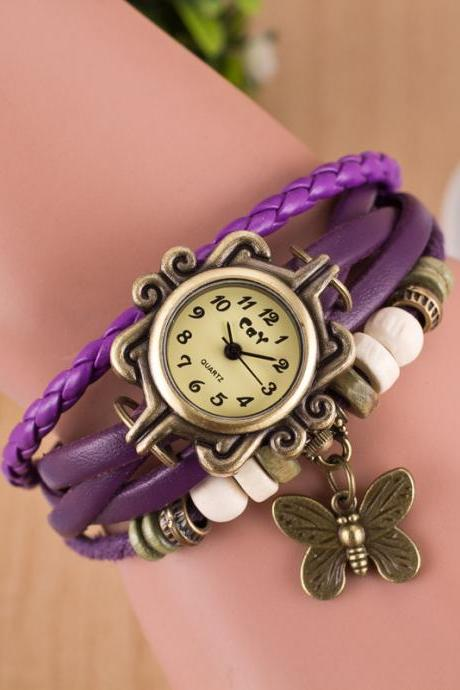 Retro Style Butterfly Bracelet Watch
