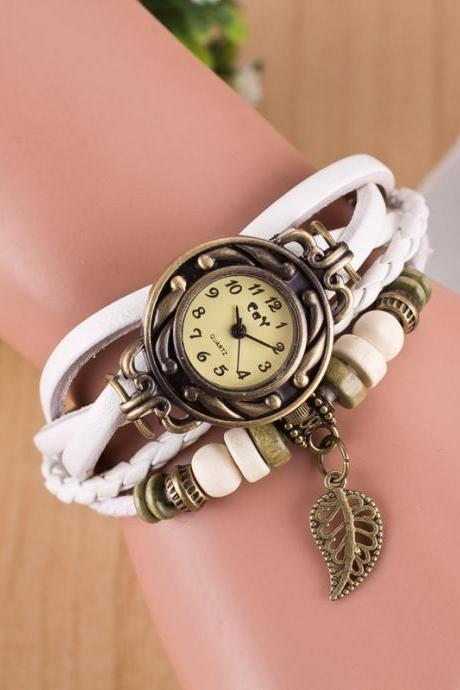 Hollow Out Leaf Multilayer Watch