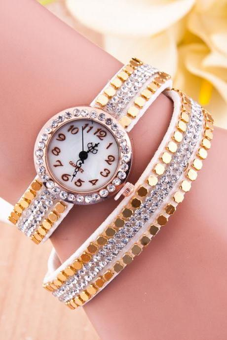 Cool Rivet Woven Bracelet Watch