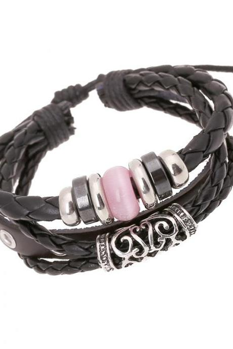 Personality Beaded Multilayer Leather Bracelet