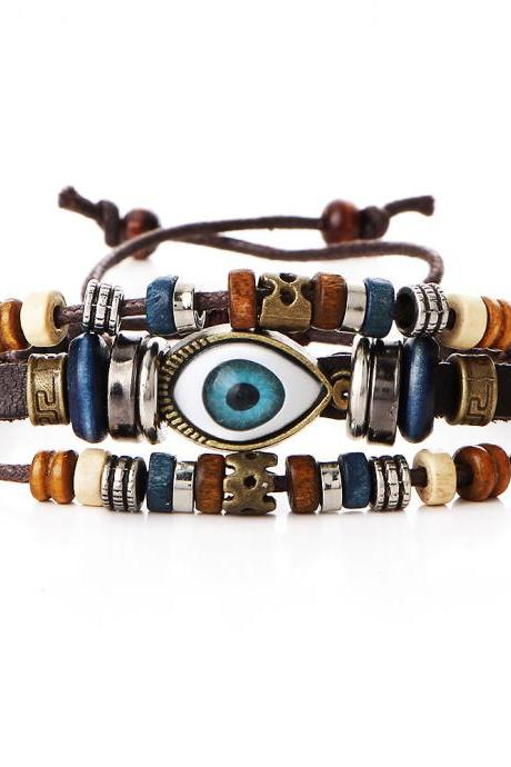 Evil Eye Multilayer Beaded Bracelet