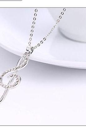 Korean music Symbol Pendant Necklace