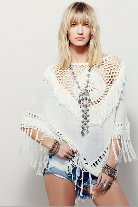 Beach Hook Flower Tassel Cloak Sexy Hollow Out Cover Ups