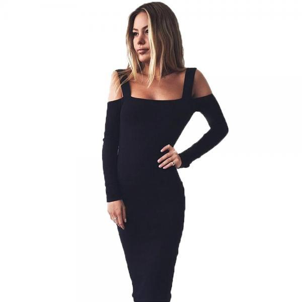 Hot Style Condole Belt Backless Long Sleeve Dress