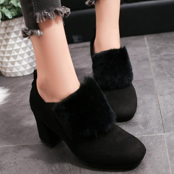 Suede Pure color Stelitto Heel Pointed Toe High Heels