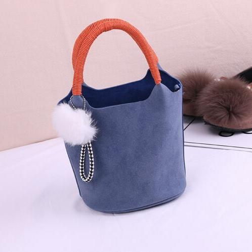 Korean Style Bucket Shape Balls Pendant Satchel