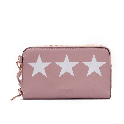Five-Pointed Star Prints Crossbody Bag