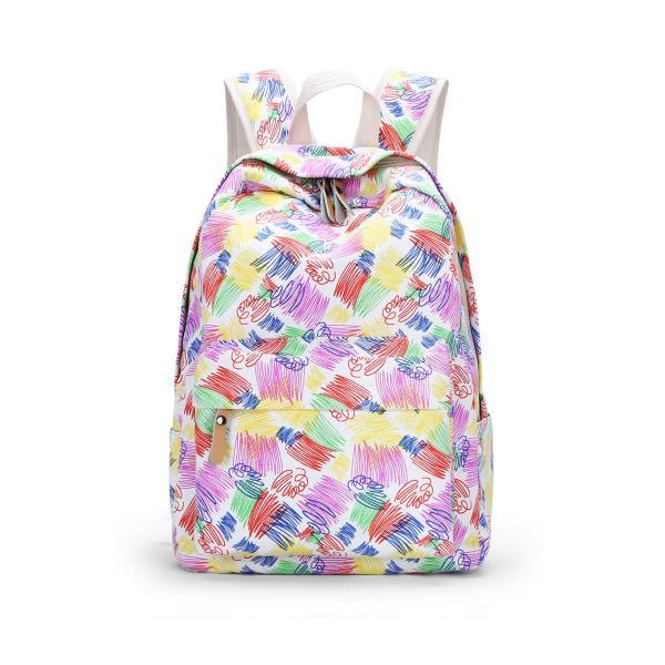 Korea Style Colorful Printing Backpack