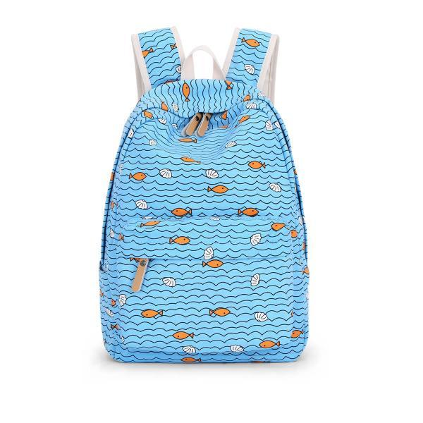 Fresh Style Seabed Printing Pattern Backpack