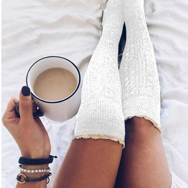 Lace Over-the-knee Heap Socks