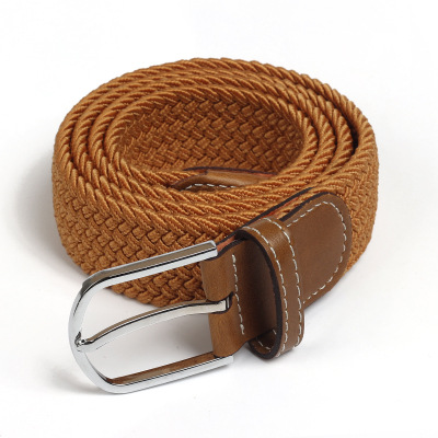 Elastic Belt Knitted Canvas Belt Decoration Belt Female Pin Buckle Canvas Strap Women And Man 2019