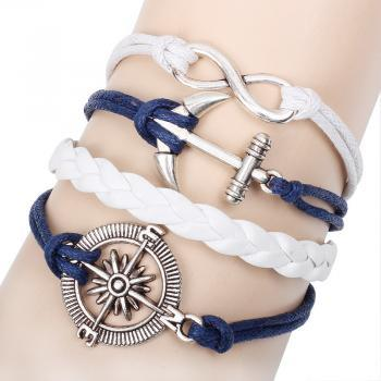 Anchor Infinite Weave Bracelet